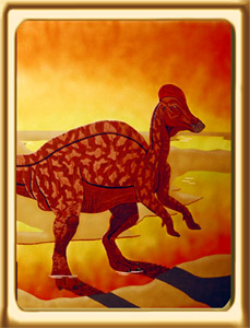 Corythosaurus at Sunrise